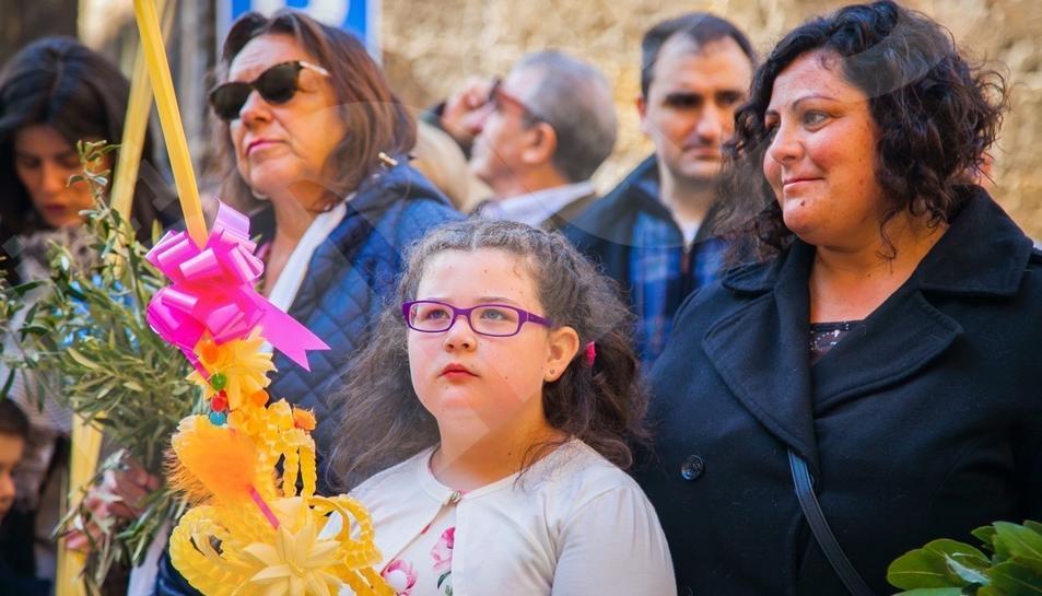 Bendición de ramos en Tarragona (I)