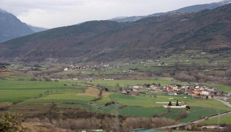 Pla general d'una part de la plana de l'Urgellet.