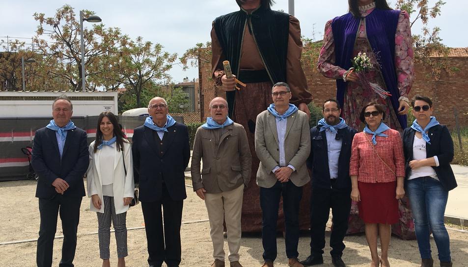 Les autoritats municipals, ahir, durant els actes protoclaris de la festa de la municipalitat.