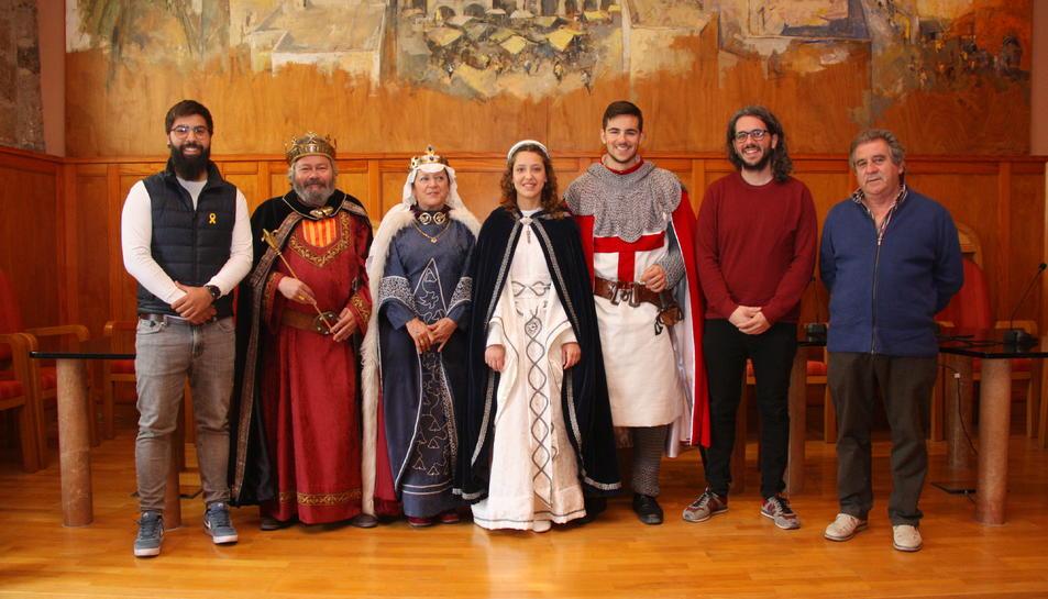 Pla general dels protagonistes i impulsors de la Setmana Medieval de Montblanc. Foto del 15 d'abril del 2019 (Horitzontal).