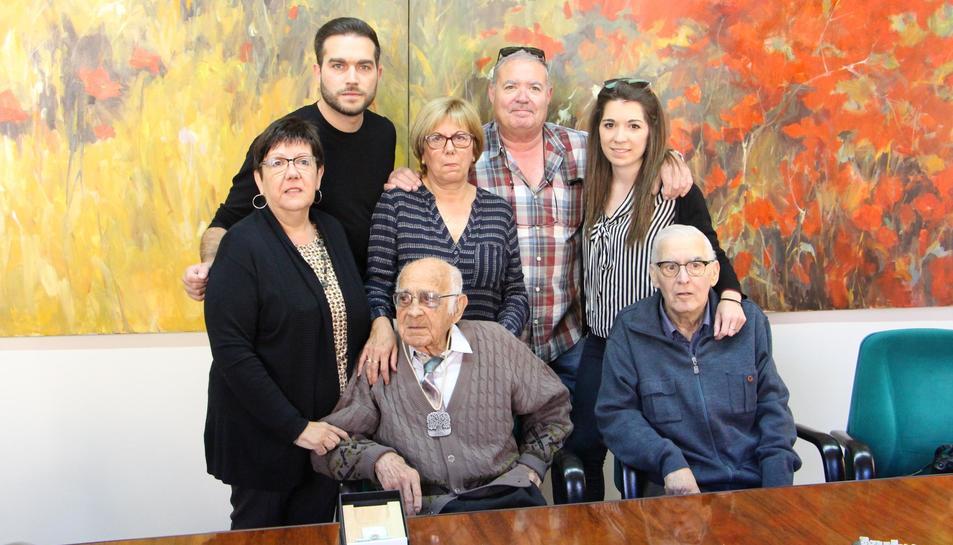Imatge de l'acte d'homenatge a Manuel Tello pel seu 100 aniversari.