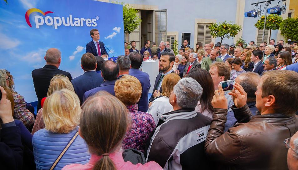 Casado durant el seu acte electoral a Tarragona.