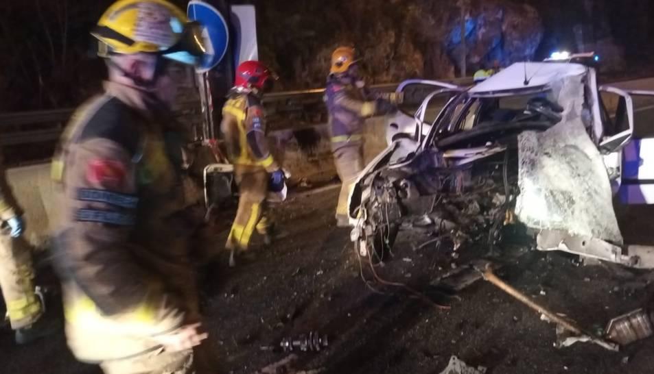 Imatge de l'accident de la N-240
