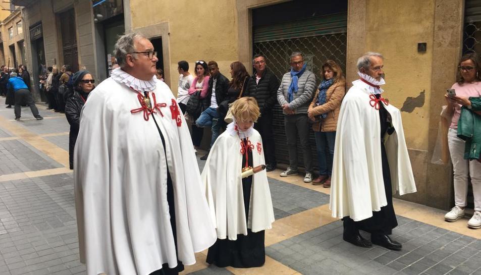 Recollida dels misteris fins a l'església de Natzaret.