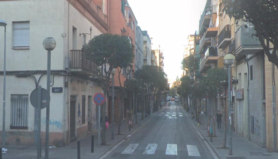 Imatge del carrer Xile de Badalona, on han tingut lloc els fets.