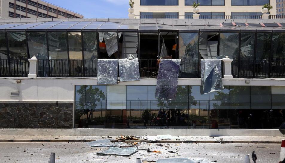 Imatge del Kingsbury Hotel on hi ha hagut una de les explosions.