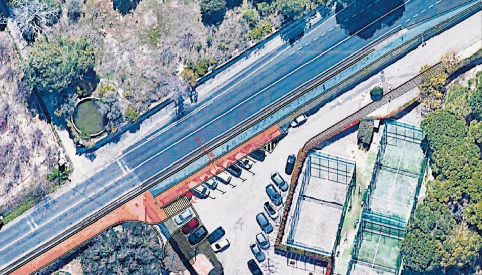 Imatge d'un dels plànols que projecten el resultat final de la vorera de la carretera de Cambrils.
