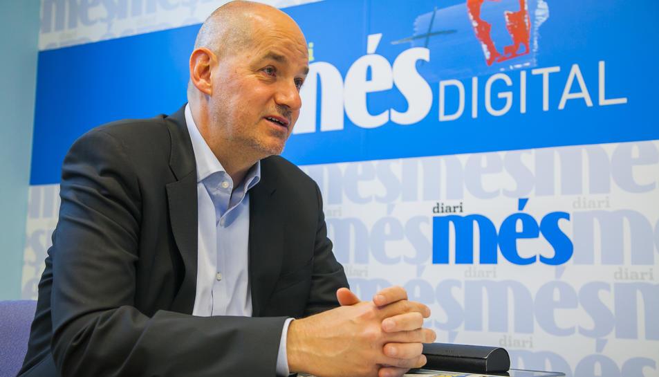 Jordi Roca, en un moment de l'entrevista, el passat 16 'abril.