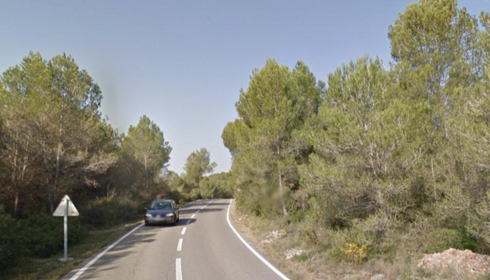 La via on ha tingut lloc l'accident