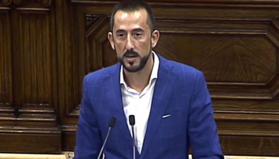 El diputat per Cs Carlos Sánchez, al Parlament