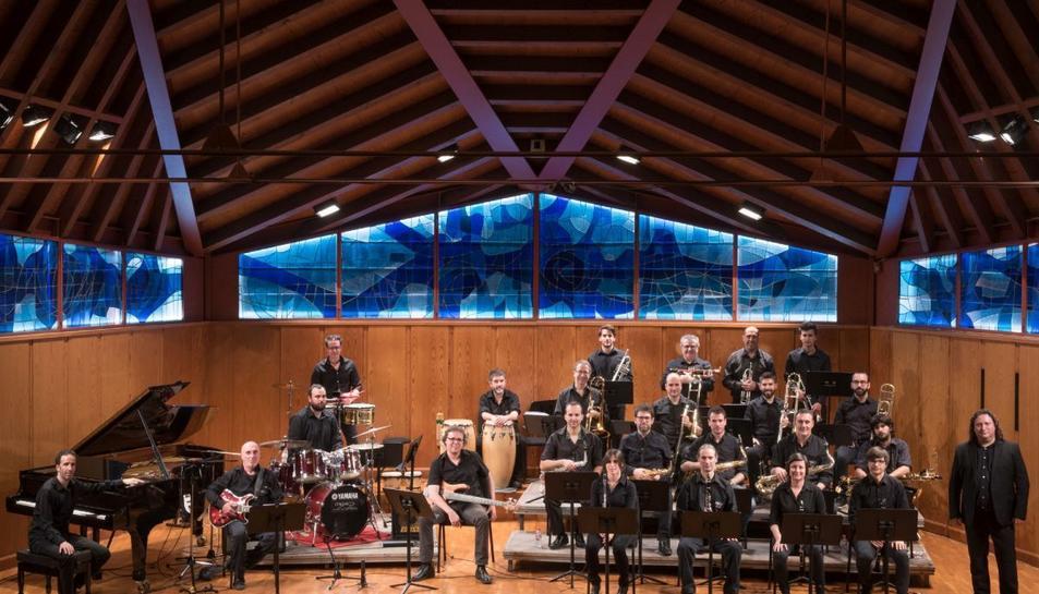 Imatge de la Big Band de l'escola Músics.