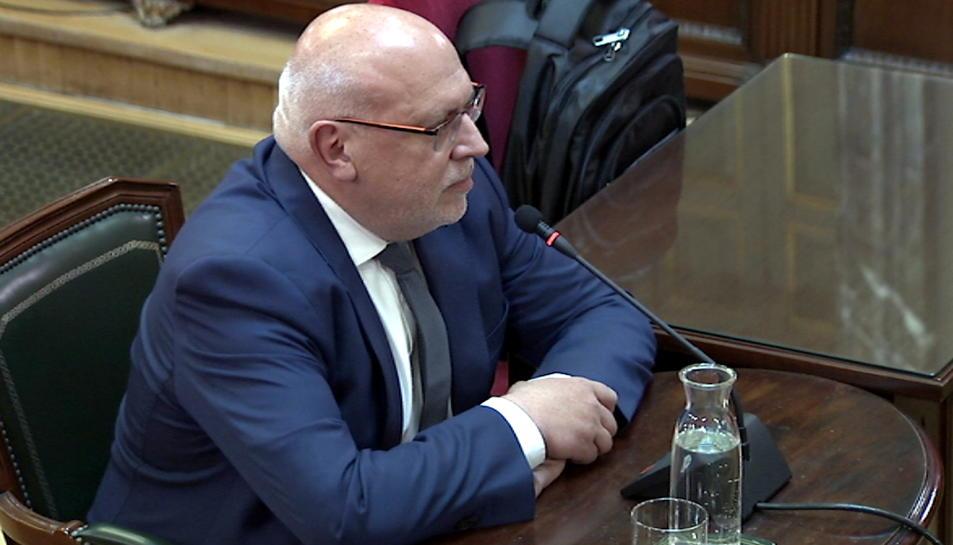 L'exconseller d'Empresa, Jordi Baiget, declarant com a testimoni al judici del Suprem.
