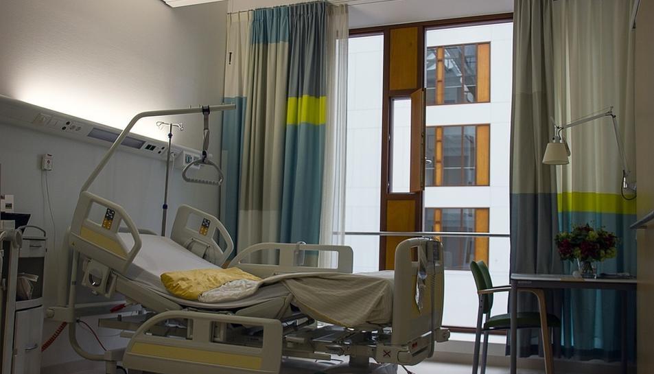 Imatge d'una habitació d'hospital.