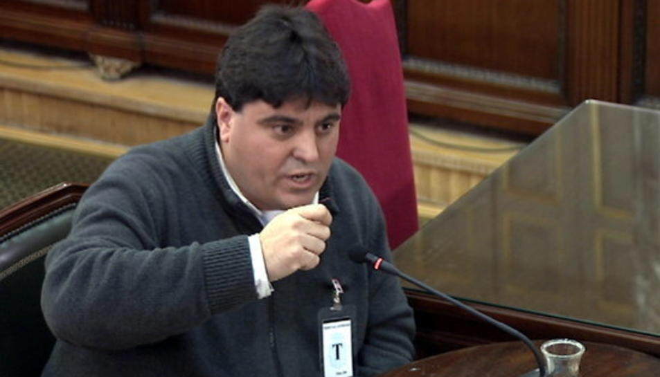 L'exdirector financer d'Unipost, Xavier Barragán, declarant al Tribunal Suprem.