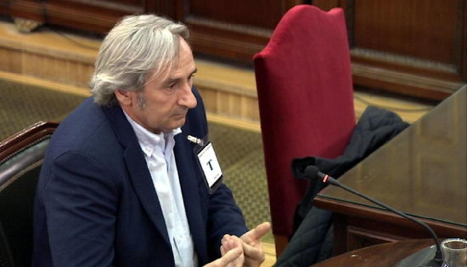 El delegat d'Unipost a l'Eixample, Rafael Ramírez Ramos, declarant com a testimoni al Suprem.