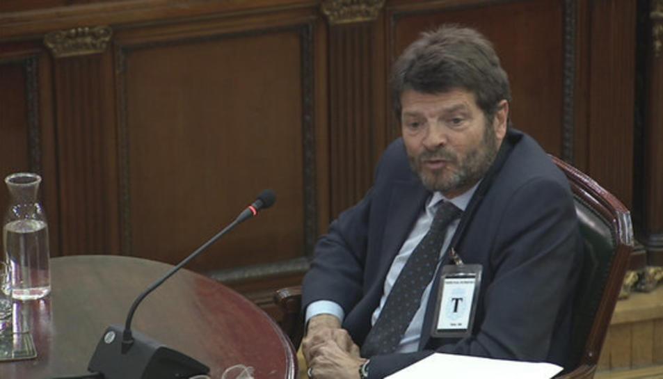 L'exdirector dels Mossos, Albert Batlle, en un moment de la seva declaració al Tribunal Suprem.