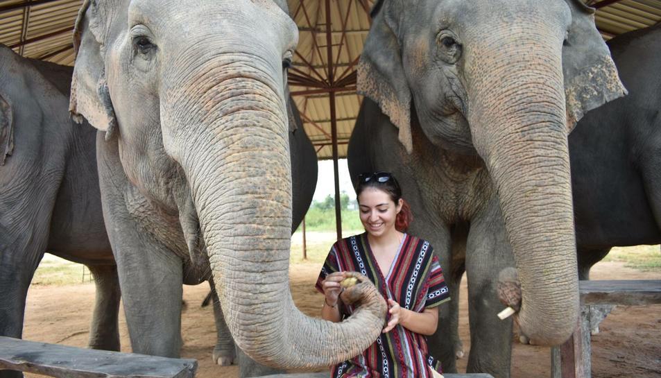 Sandra Ramírez està aprofitant per viatjar pels països asiàtics.
