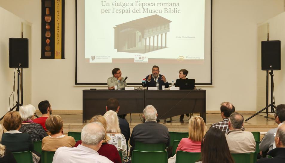 La presentació de les imatges en 3D de les restes romanes es va fer a la seu del Museu Bíblic.