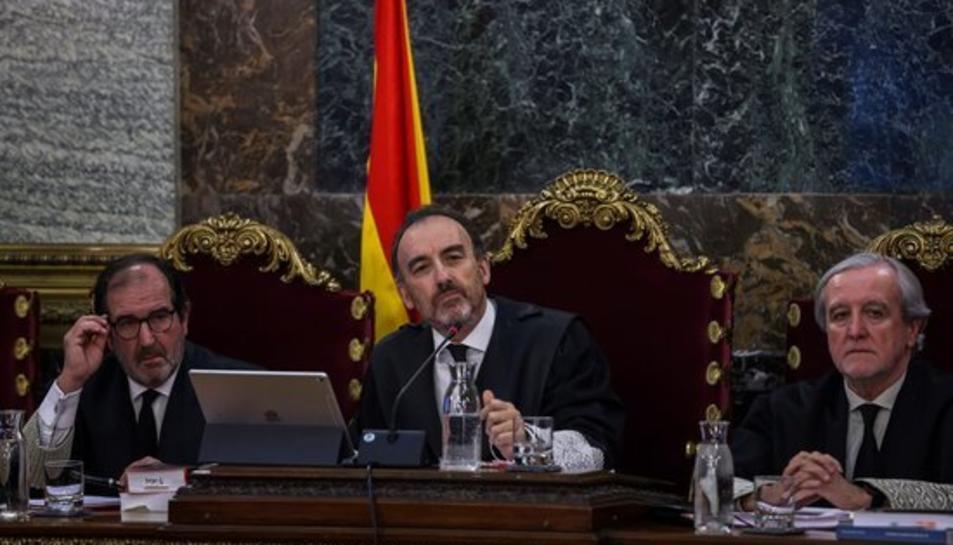 El magistrat Manuel Marchena, presidint la sala del Tribunal Suprem durant el judici de l'1-O.