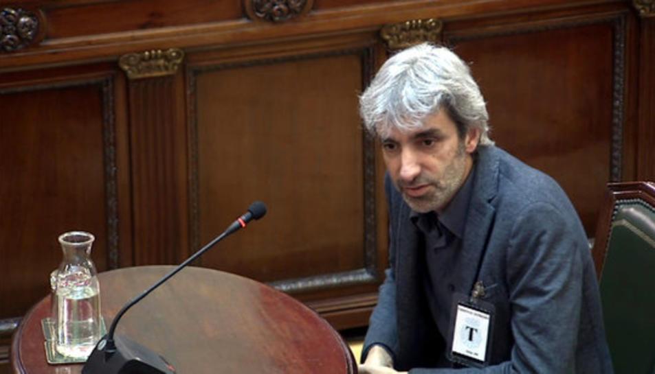 El director de FundiPau, Jordi Armadans, declarant com a testimoni al Tribunal Suprem.