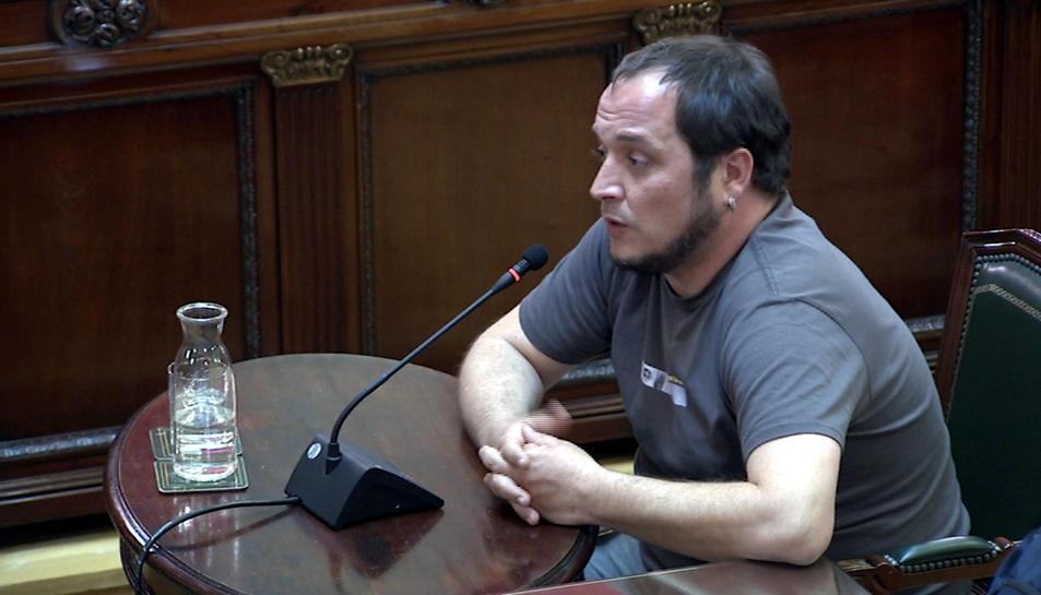 L'exdiputat de la CUP David Fernàndez declarant com a testimoni al Suprem.