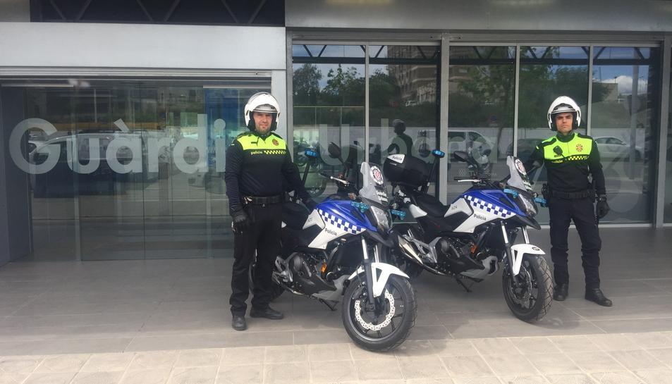 Imatge de les noves motos adquirides pel cos policial.