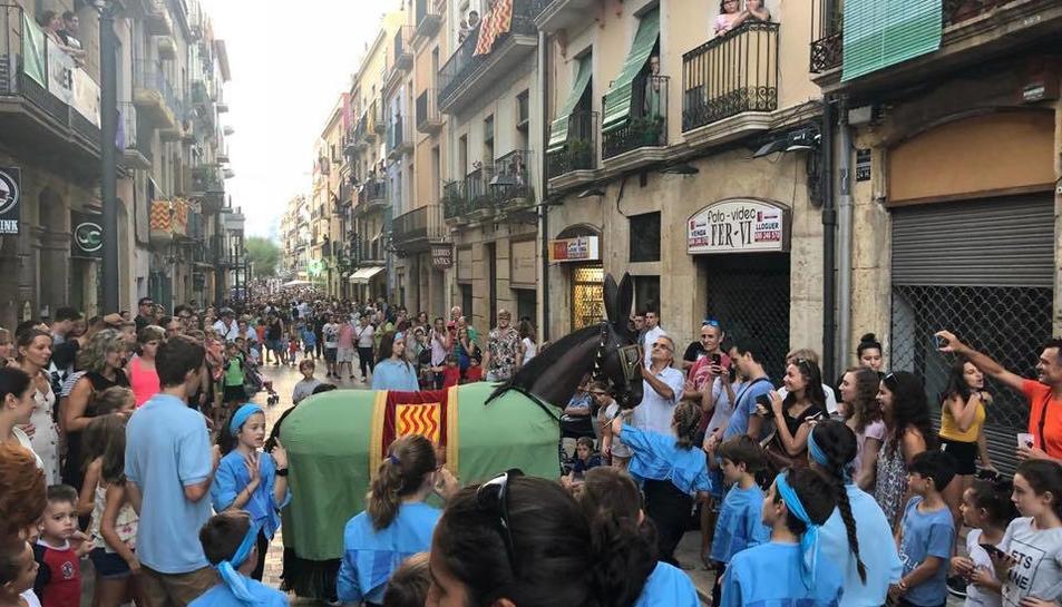 Imatge de la Mulassa de Tarragona durant les festes de Santa Tecla.