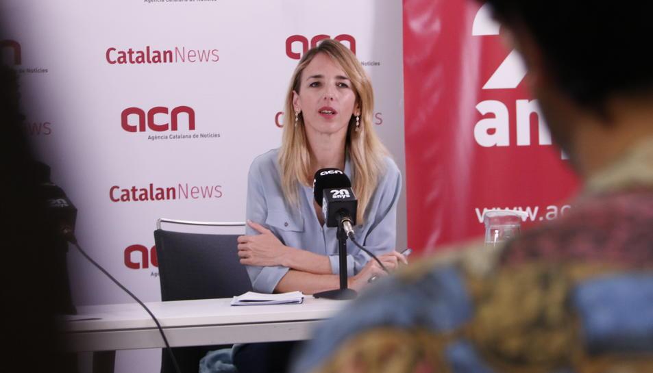 Roda de premsa de Cayetana Álvarez de Toledo (PPC) a l'Agència Catalana de Notícies (Horitzontal)