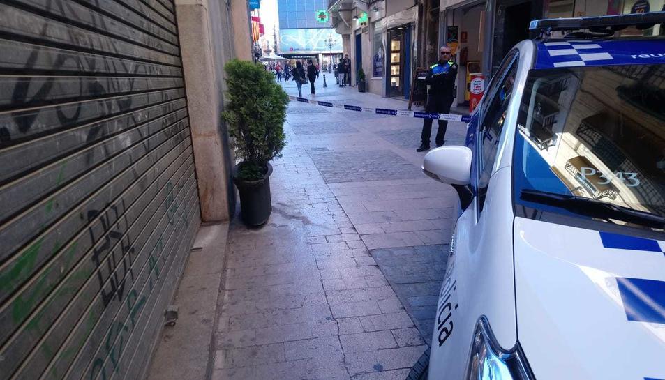 La Guàrdia Urbana de Reus ha senyalitzat la zona.