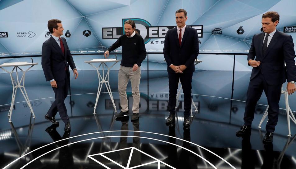 Imatge dels quatre candidats a president del govern espanyol.
