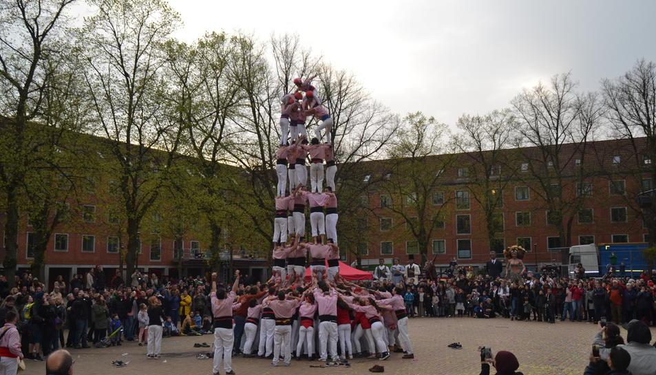 Els Xiquets han participat en l'espectacle 'La Festa Major a Catalunya'.