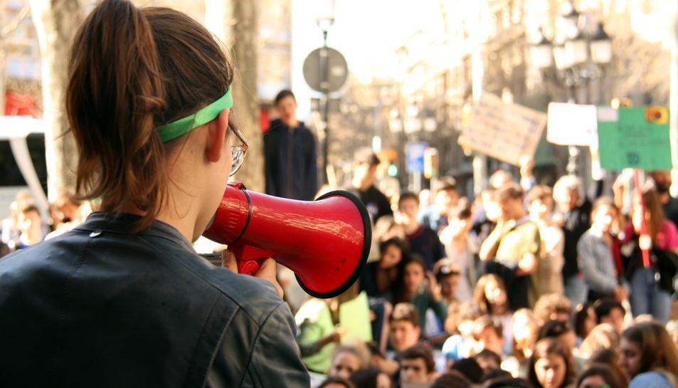 Imatge d'arxiu d'una manifestació d'estudiants.