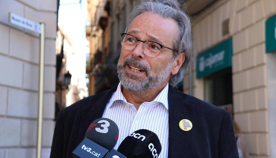 El vicepresident de l'Associació de la Caixa de Solidaritat i expresident de Parlament, Ernest Benach.