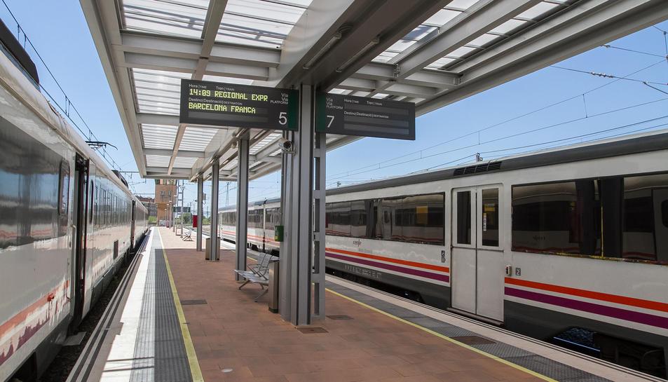 Una imatge d'arxiu de l'estació de tren de Reus.