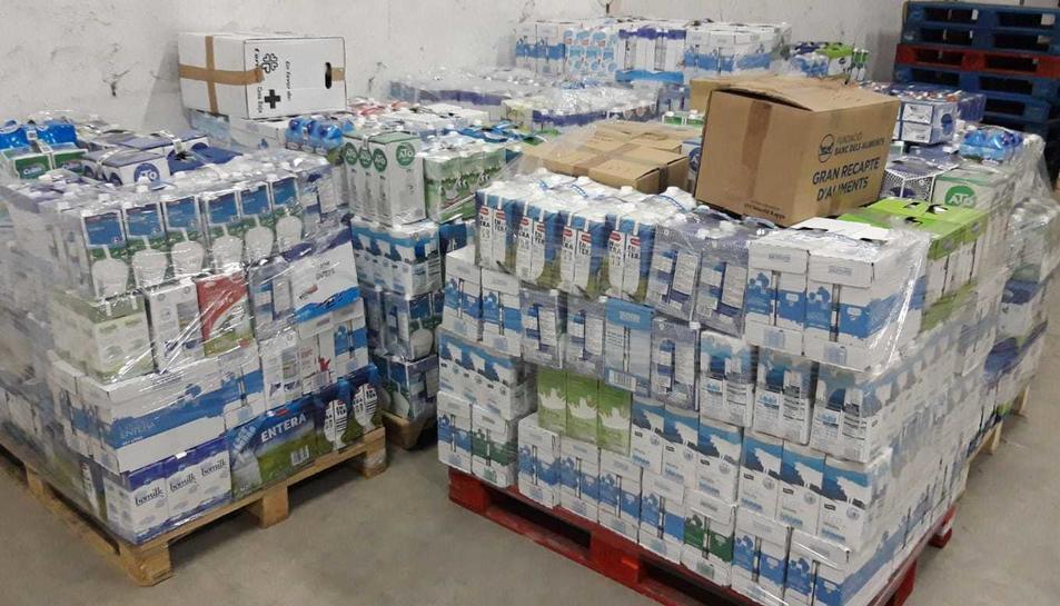 S'han recollit 27.500 quilos d'aliments bàsics.