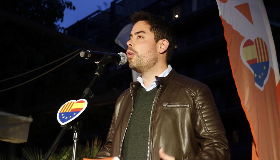 Pla mig del cap de campanya de Cs a Catalunya, David Mejía.