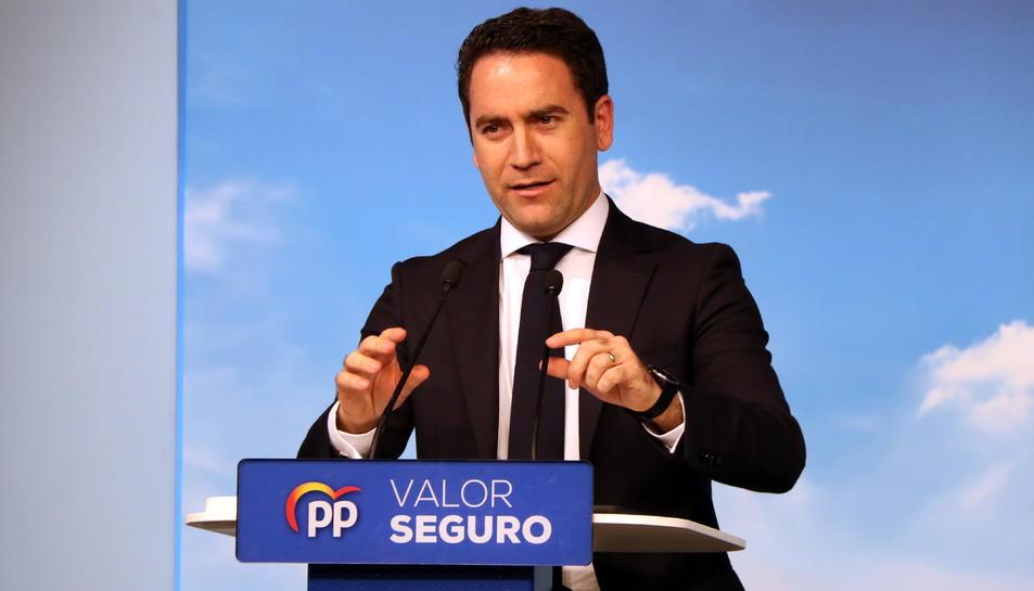 Pla mitjà del secretari general del PP, Teodoro García Egea.