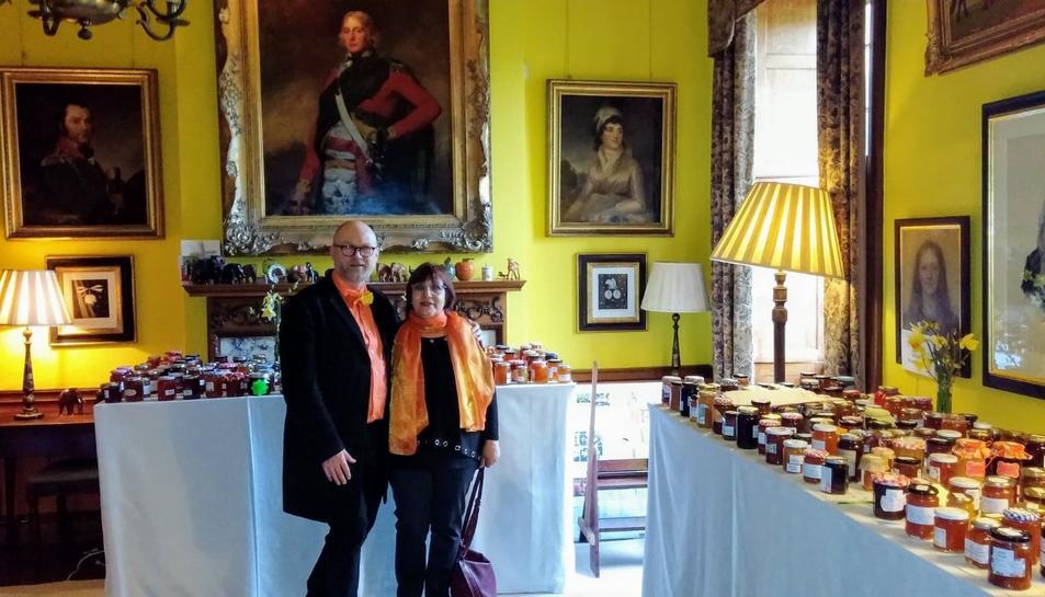 Montserrat Rull i Dan Lepard, gastrònom i jutge del World's Original Marmalade Awards.