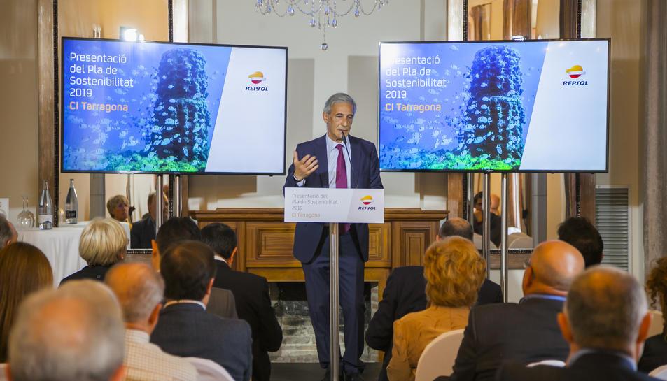 La presentació de l'informe sobre la qualitat de l'aire es va fer ahir a la tarda a Casa Miret i va anar a càrrec de Lluís Anglada.