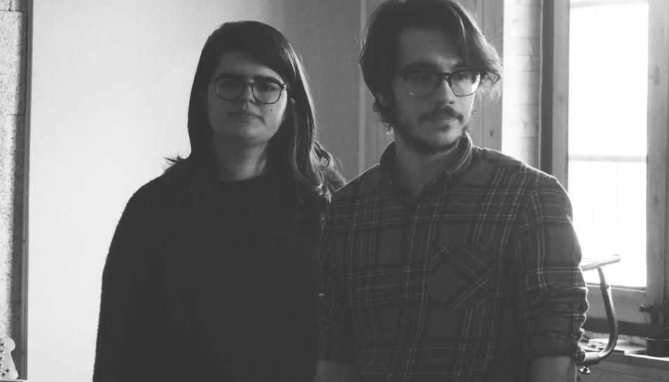 Els músics Elena Volpini i Gabri Llorach.