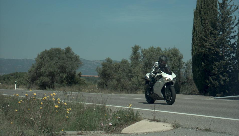 Fotografia del radar de la motocicleta que circulava a 195 km/h en un tram limitat a 90 per la C-44, a Tivissa.