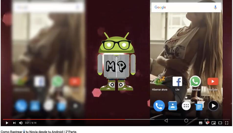 Imatge d'un dels vídeos denunciats per promoure l'espionatge de dones.