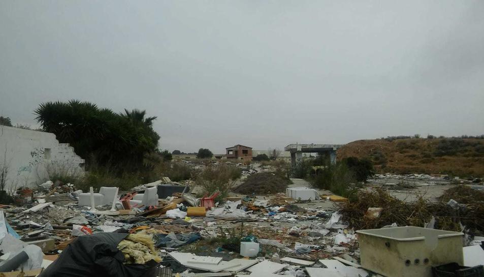 Imatge de los escombros que han en la planta de la ant
