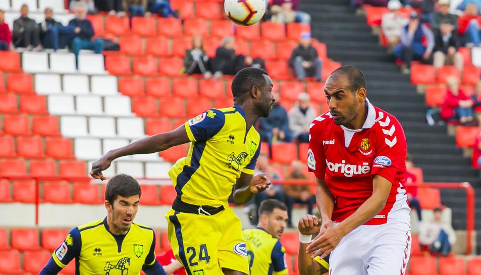 Fali, durant el Nàstic-Numancia disputat al Nou Estadi el passat mes d'abril, que va finalitzar amb victòria grana (2-0).