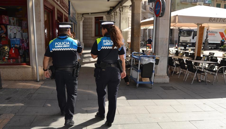 Foto d'arxiu d'una patrulla de la Guàrdia Urbana de Reus.