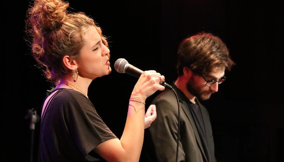 La cantant Marina Tuset en la seva actuació a la Nova Jazz Cava el passat 6 de març.