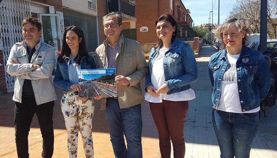 José Luis Martín presentant el projecte a l'Albada.