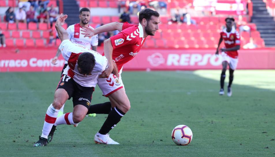 Iván López, durant el Nàstic-Mallorca del passat dissabte, que va acabar 2-1.