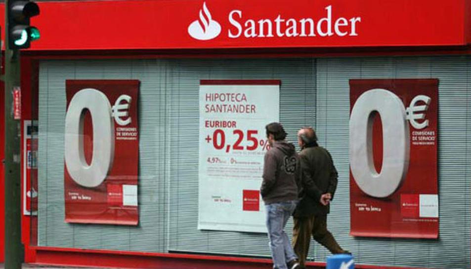 Imatge d'una oficina del Banc Santander.