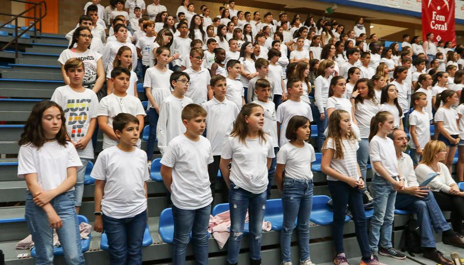 En la cantata de 'Fem Coral' han participat alumnes de 24 escoles de Reus i de municipis propers.